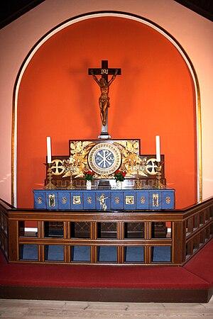Allinge Church - Image: Allinge alter