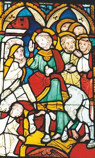 Alskog Church - Medieval painted glass in Alskog Church