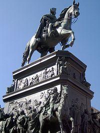 Equestrian statue of Frederick at Unter den Linden, Berlin.