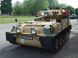 FV101 Scorpion - Scorpion at Aldershot military museum