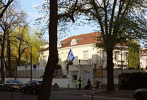 Israel–Poland relations - Image: Ambasada izraela w warszawie