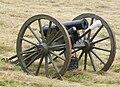 American Civil War era 12 lb howitzer cannon used in the battle of Corydon reenactment.jpg