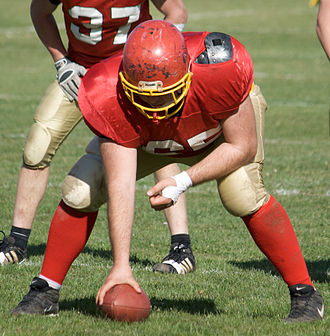 Center (gridiron football) - Image: American Football Center