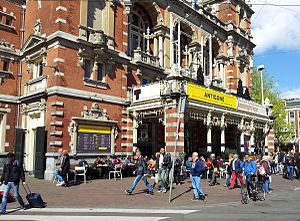 Toneelgroep Amsterdam - Stadsschouwburg in 2015 advertising two TA productions: Antigone and Queen Lear