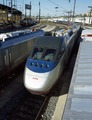 Amtrak's new Acela Express trainset during testing in Philadelphia, Pennsylvania LCCN2011633322.tif