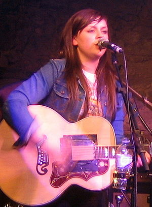 Amy Macdonald - Macdonald on stage at T on the Fringe After Party at The Caves, Edinburgh.