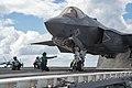An F-35C Lightning II is tested aboard USS Dwight D. Eisenhower. (22034200691).jpg