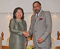 Anand Sharma meeting the Indonesian Minister for Trade, Ms. Mari Elka Pangestu, on the sidelines of the ASEAN Economic Ministers' Meeting (AEM), at Da Nang city, Vietnam on August 26, 2010.jpg