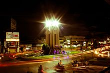 Anantapur Clock tower at night.jpg
