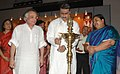 Anbumani Ramadoss lighting the lamp to inaugurate the 'AROGYA 2007' (a comprehensive 3-day International Health Fair on Ayurveda, Yoga & Naturopathy, Unani, Siddha and Homoeopathy), in New Delhi on October 26, 2007.jpg