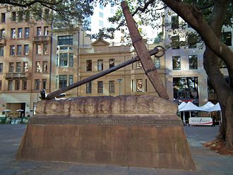 HMS Sirius (1786) - Anchor from HMS Sirius in Sydney