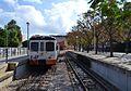 Andanes i tren, estació de Dénia.JPG