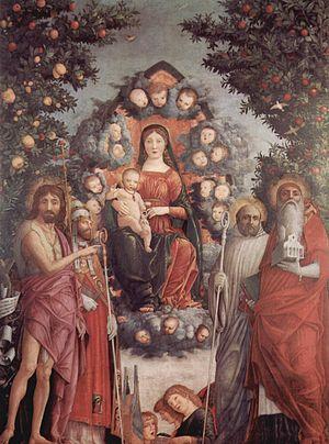 Trivulzio Madonna - Image: Andrea Mantegna 106