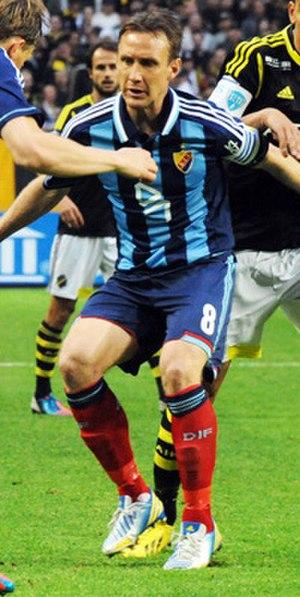 Andreas Johansson (footballer, born 1978) - Johansson playing for Djurgårdens IF in 2013