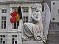 Angel & National Flag of Belgium, Martyrs' Square - Place des Martyrs - Martelaarsplaats, Brussels, Belgium (4039454903).jpg