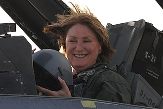 Ann Weaver Hart - Ann Weaver Hart seated in a F-16D Fighting Falcon at Davis–Monthan Air Force Base in 2016