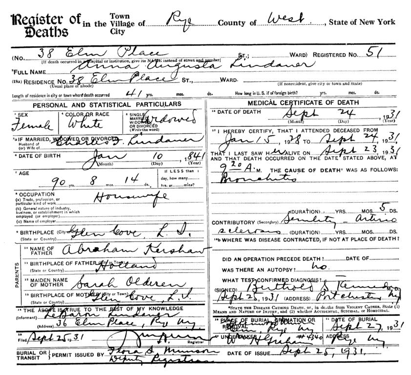 Fileanna Augusta Kershaw 1841 1931 Death Certificateg