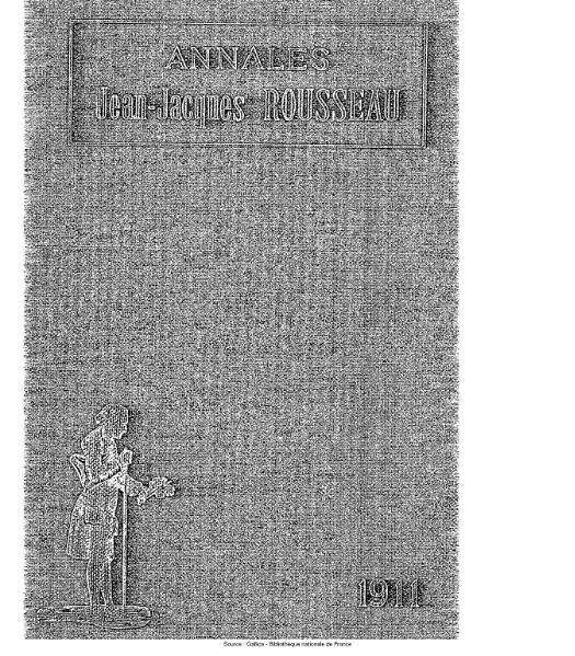 File:Annales de la société Jean-Jacques Rousseau, tome 7.djvu