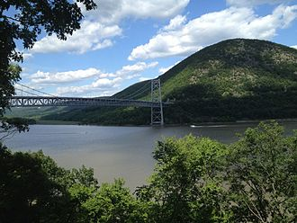 Cortlandt Manor, New York - Anthony's Nose and the Bear Mountain Bridge in Cortlandt Manor