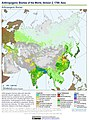 Anthropogenic Biomes of the World, Version 2, 1700 Asia (13603030405).jpg