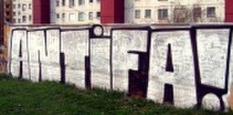 Post-WWII anti-fascism - 2007 photo of Antifa graffiti in Trnava, Slovakia