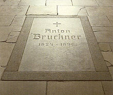photo : plaque Bruckner à Saint-Florian