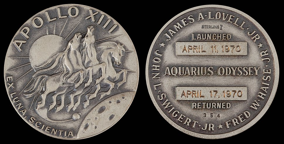 Apollo 13 Flown Silver Robbins Medallion (SN-354)