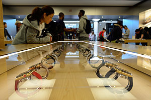 Apple Watch - An Apple Store showcase with various Apple Watch models