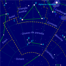 Image illustrative de l'article Oiseau de paradis (constellation)