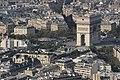 Arc de Triomphe from the Eiffel Tower, Paris 21 September 2016.jpg