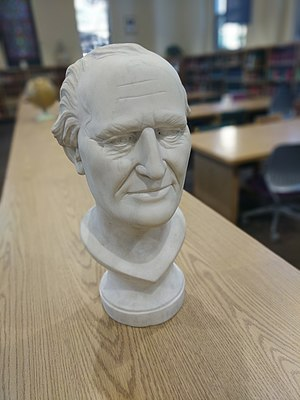 John Ireland (bishop) - A bust of Archbishop John Ireland in the Ireland Memorial Library at the University of St. Thomas in St. Paul, Minnesota.