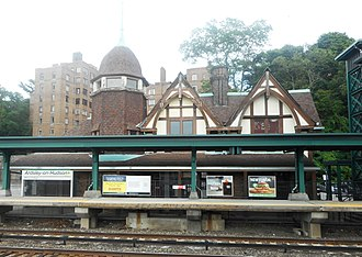 The Girl on the Train (2016 film) - The Ardsley-on-Hudson Metro-North station, used for several scenes in the film