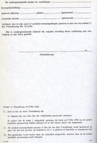 ontslagbrief tekenen voor ontvangst Ariërverklaring   Wikipedia ontslagbrief tekenen voor ontvangst