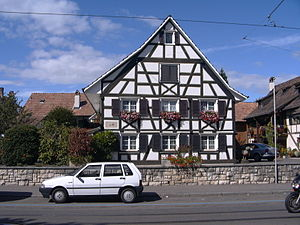 Allschwil - Half Timbered house in the village center