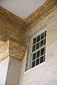 Arlington House - main portico second floor window - earthquake damage - 2011.jpg