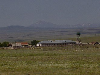 Armenian Border Guard - An Armenian border guard station sitting along the closed border with Turkey, in the province of Shirak.