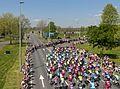Arnhem Gelredome-traverse, peloton Giro d'Italia 2e etappe IMG 0147 2016-05-07 12.31.jpg