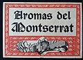 Aromas de Montserrat- ancient logo at a Victor Balaguer Museum exhibit.JPG