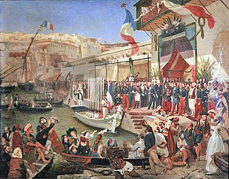 French colonial empire - Arrival of Marshal Randon in Algiers in 1857, by Ernest Francis Vacherot