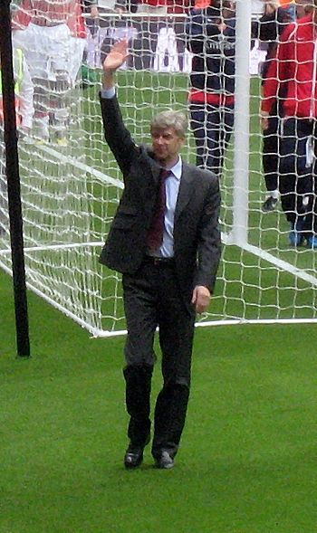 Arsène Wenger, French football manager.