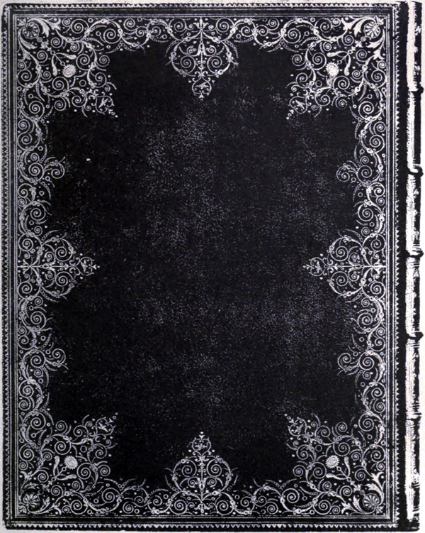Photo-lithograph of a book cover with Derome finishing.