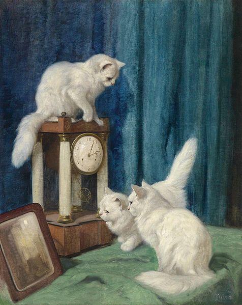 File:Arthur Heyer Drei neugierige Katzen.jpg