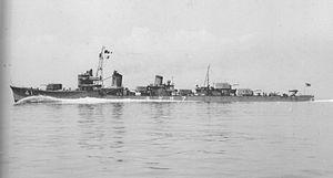 Japanese destroyer Asagumo (1937) - Image: Asagumo
