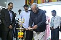 Ashok Gajapathi Raju Pusapati lighting the lamp to inaugurate the E-boarding facility at Rajiv Gandhi International Airport, in Hyderabad. The State Human Resources Development (Primary Education, Secondary Education.jpg