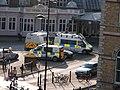 Assorted BTP vans outside York railway station.JPG