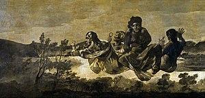 Asmodea - Atropos,  Goya, 1821-23. Prado, Madrid.