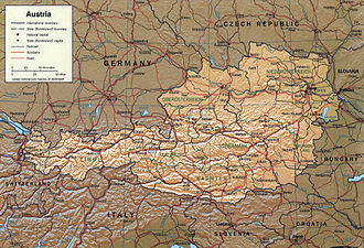 Geography of Austria - Detailed map of Austria
