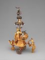 Automaton in the form of a chariot pushed by a Chinese attendant and set with a clock MET DP350585.jpg