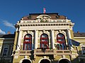 Avant-corps of City Hall, detail. - Dobó Square, Eger, 2016 Hungary.jpg