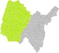 Bâgé-le-Châtel (Ain) dans son Arrondissement.png